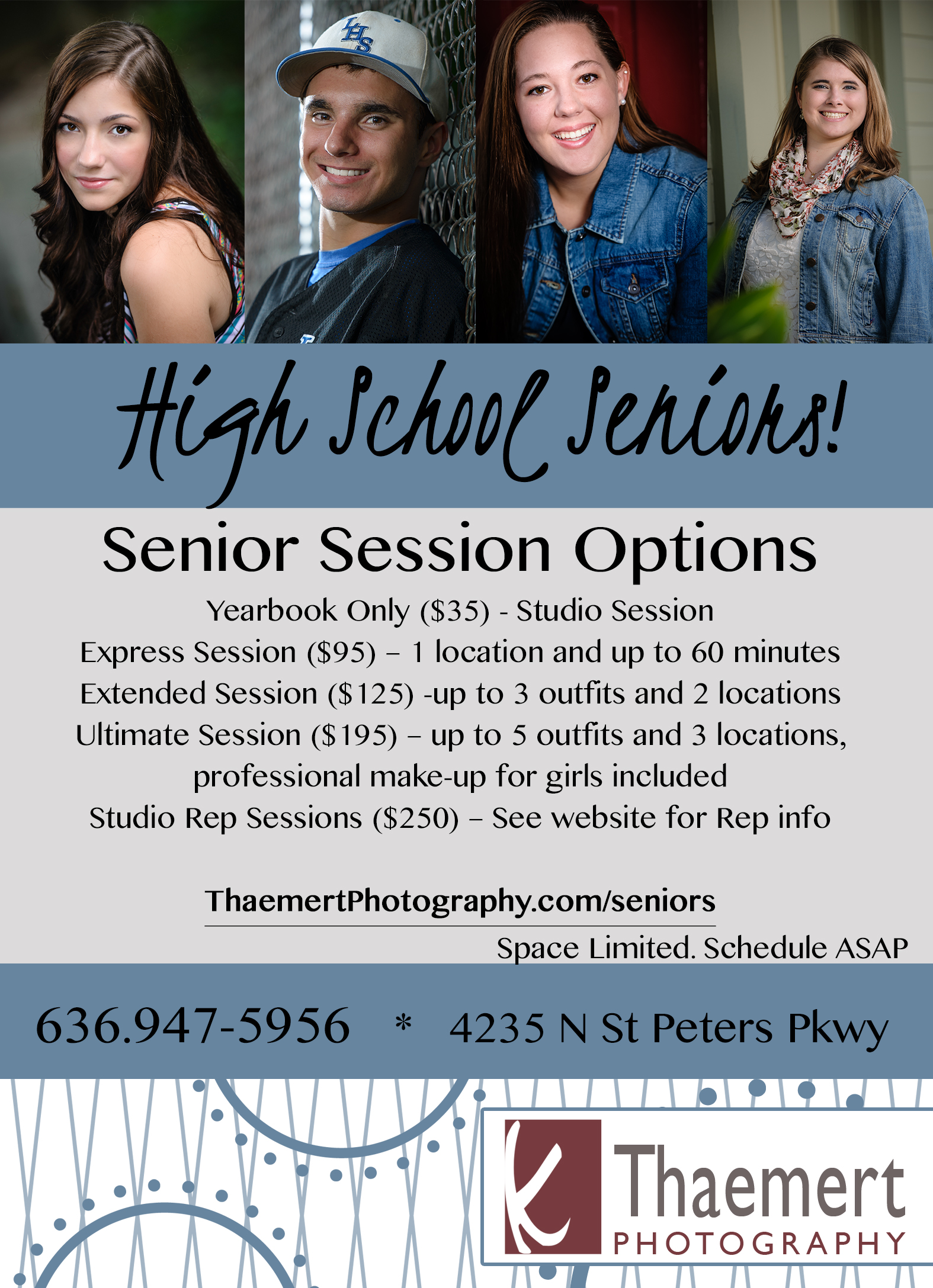 Photographing High School Senior Photo Sessions