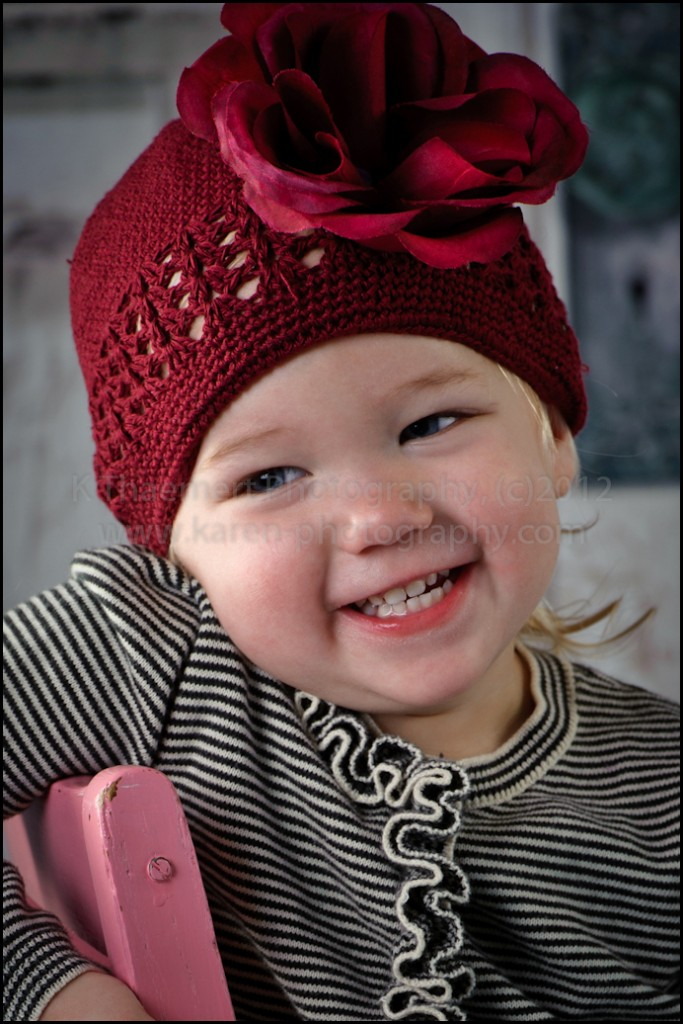 Two Year Old girl image in St Charles Children's Photographer studio