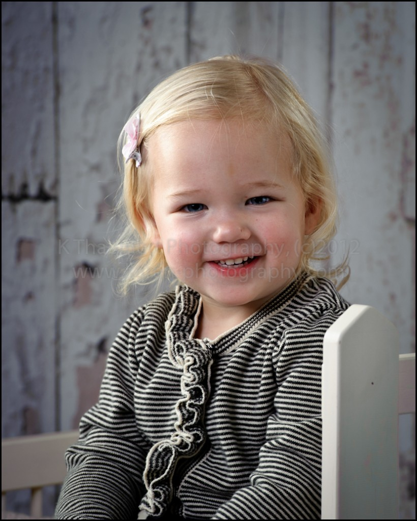Two Year close up portraits at St Charles Children's Photographer studio