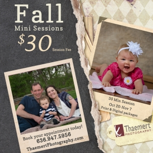 St Charles Photographer Fall Mini Sessions