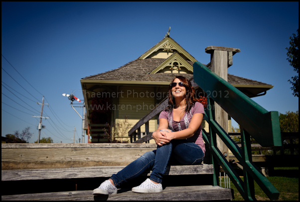 High School Senior outdoor photography in St Charles