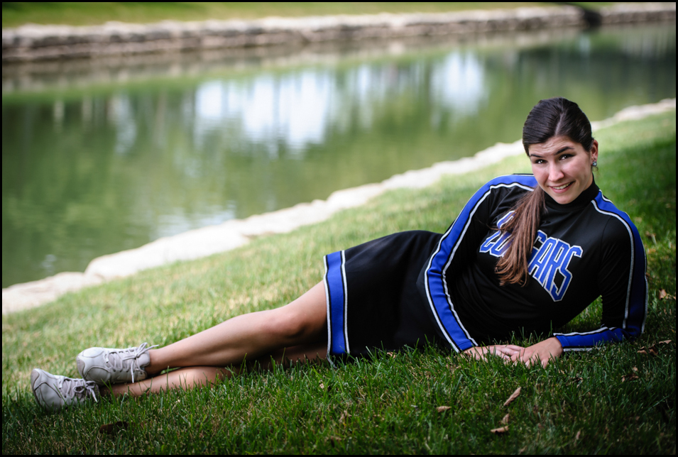 High School Senior Girl photography in St Charles at New Town