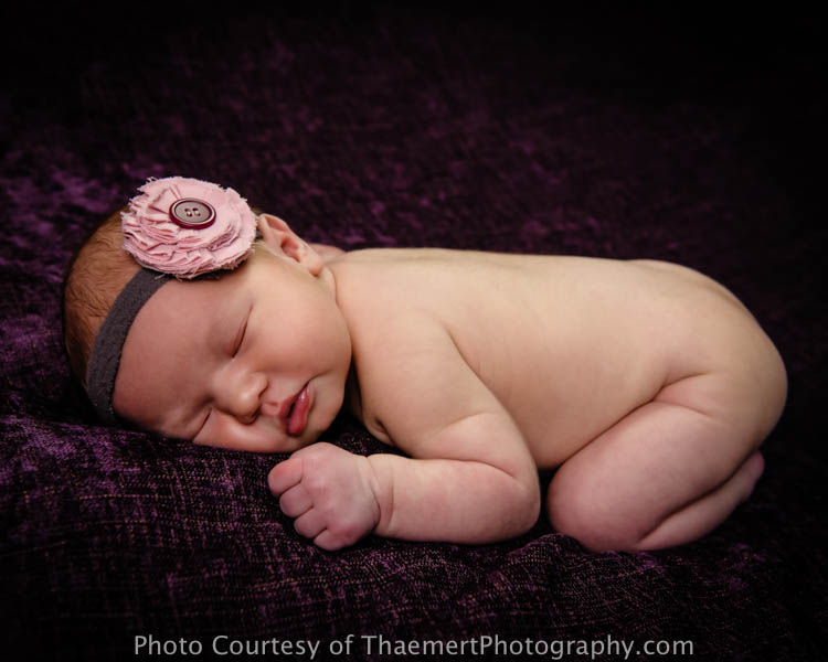 Sweet Newborn baby girl, St Charles Newborn Photographer