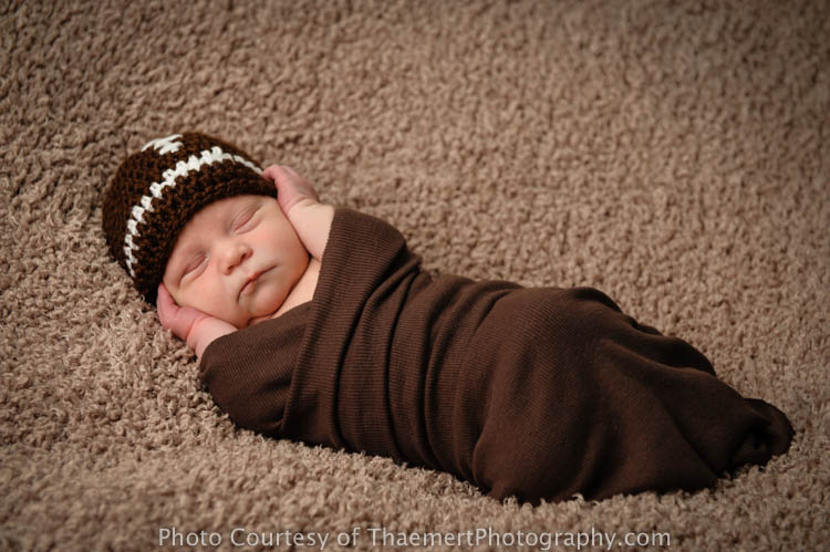 Newborn Baby Boy Portrait by St Charles Newborn Photographer