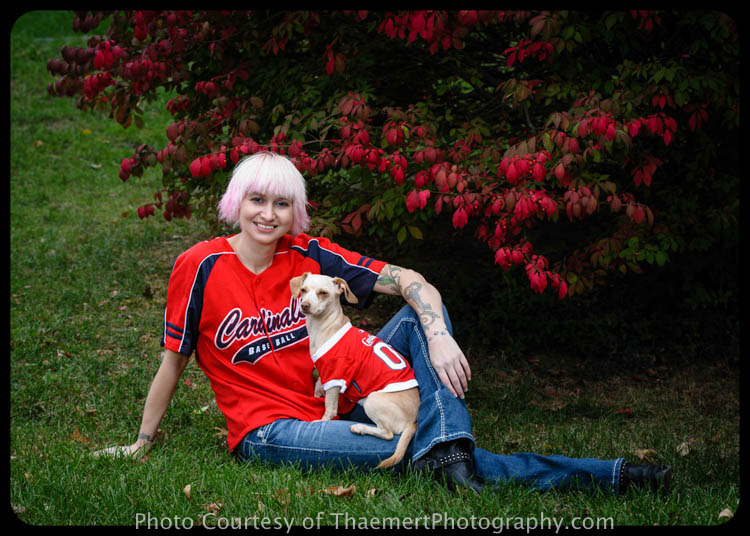 St Louis Cardinals Fan - St Charles Pet Photographer