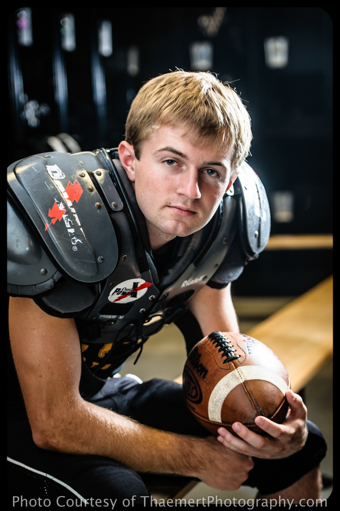St Charles Senior Photographer, guy pictures of football player