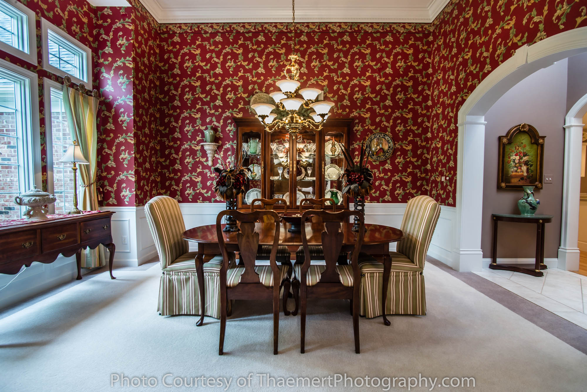 Formal Dining Room by Best Saint Charles Real Estate Photographer
