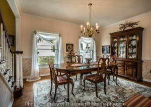 Formal Dining Room St Charles Real Estate Photographer