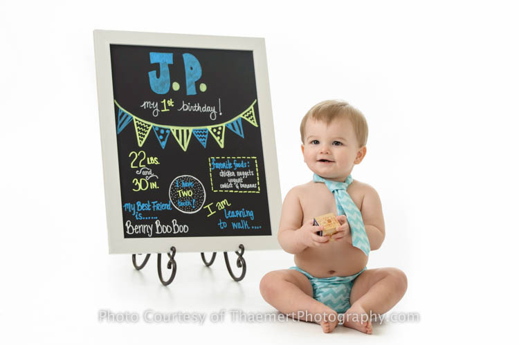 Happy Birthday Photos by St Charles Baby Photographer