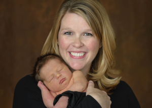 Newborn Baby with Mother St Charles Photographer