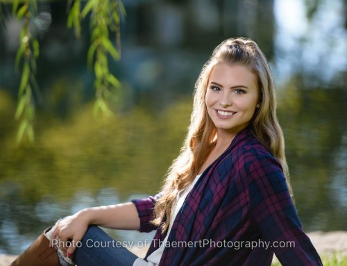 On the Water senior pictures in St Charles