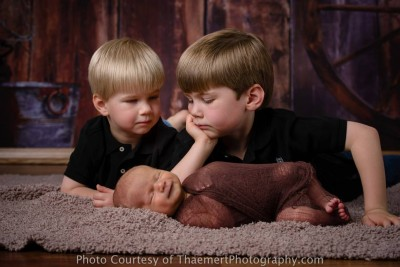 Sibling Photos with newborn baby boy