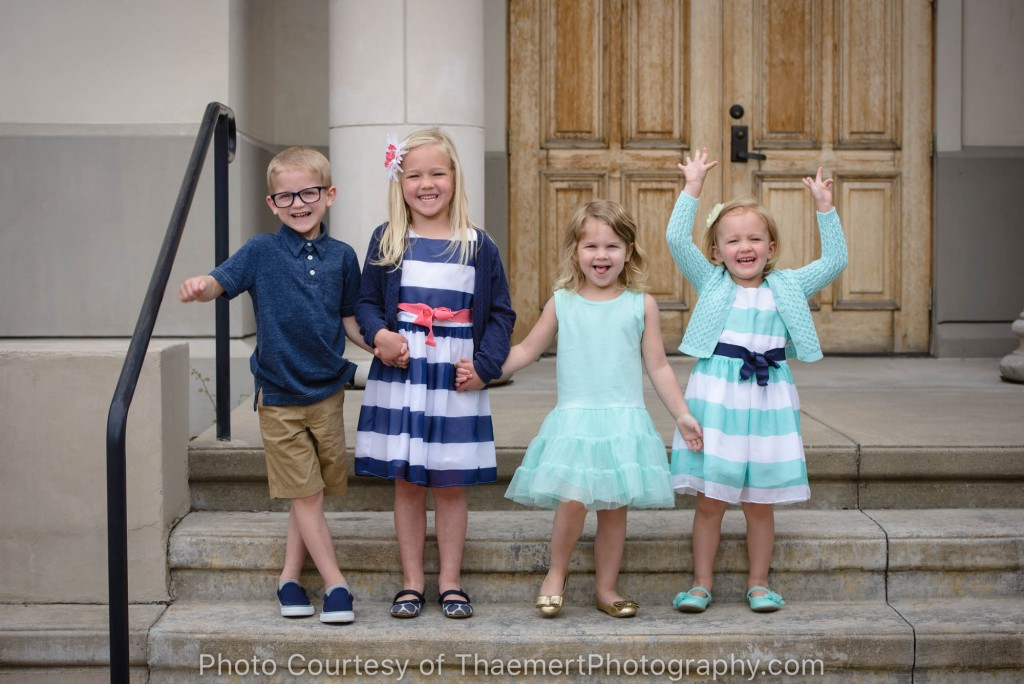 Spring children's photos in St. Charles, MO
