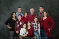 Holiday family portaits by St Charles Photographer