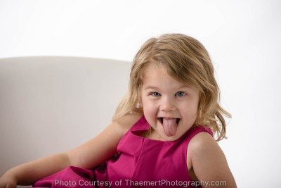 Fun studio photo shoot with St Louis Childrens Photographer