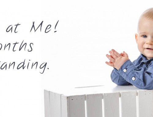 Look Ma! Standing Portraits – St Charles Baby Photographer