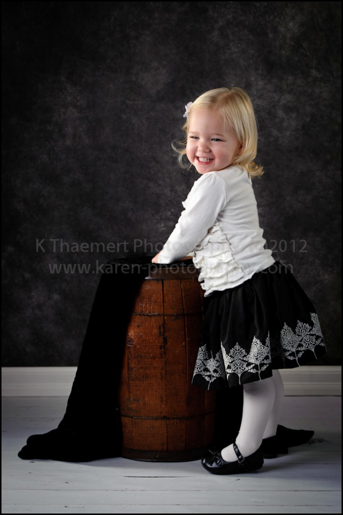 Two Year standing portraits at St Charles Children's Photographer studio