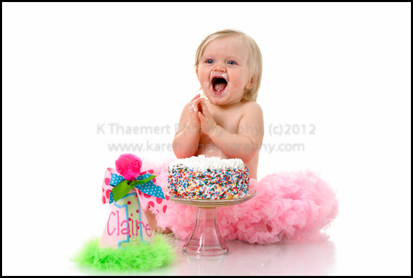 St Charles baby photography smash the cake photo session
