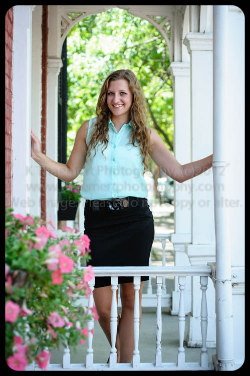 High School Senior Portrait by St Charles Senior Photographer