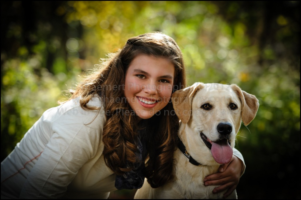 St Peter's Family Photographer photo of girl with dog