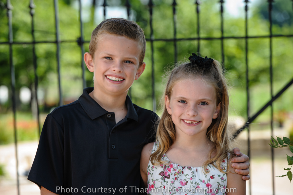 St Charles Family Photographer for Siblings