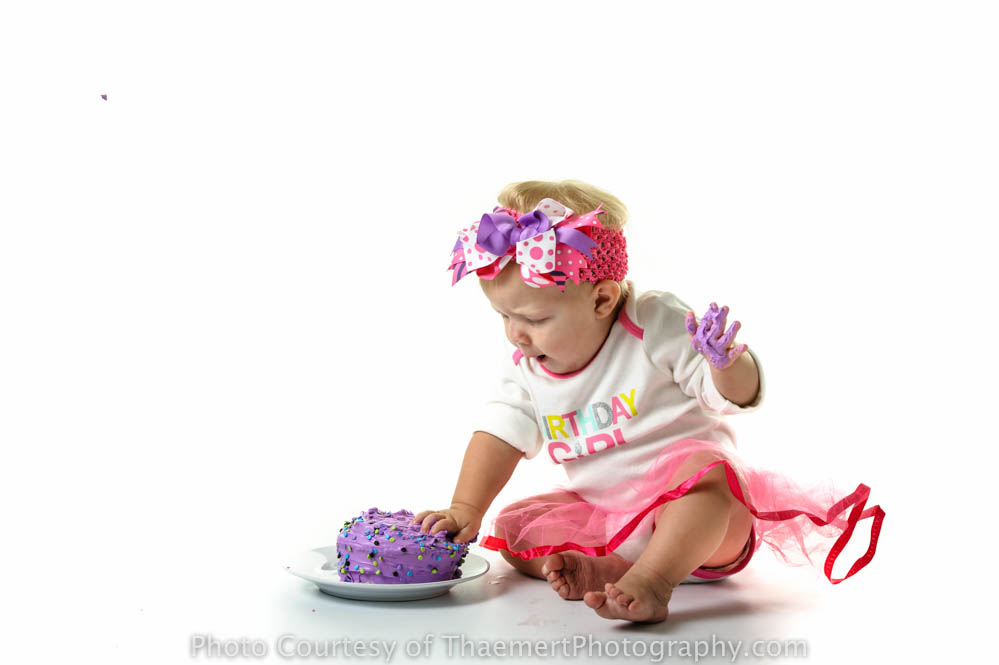 St Charles Baby Photographer First Birthday Cake