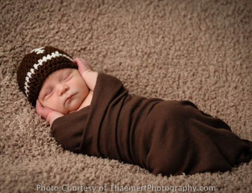 Baby Boy Football Fan! {St Charles Newborn Photographer}