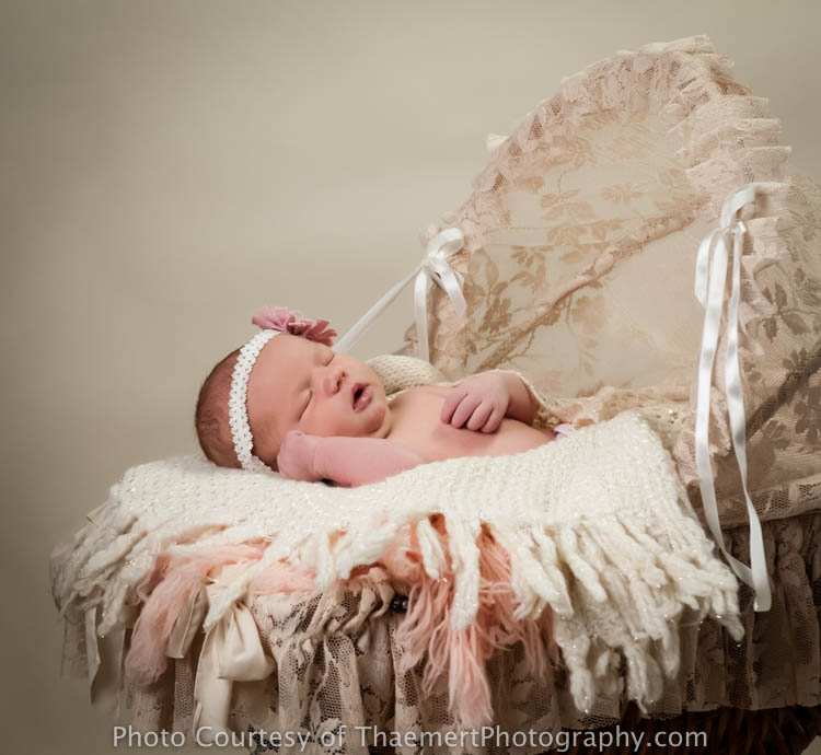 Sweet baby Girl portrait by St Charles Newborn Photographer