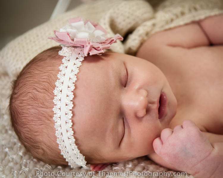 St Charles Newborn Photographer sweet baby girl