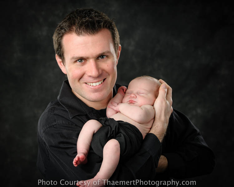 St Charles Newborn Photographer Dad and Baby Boy