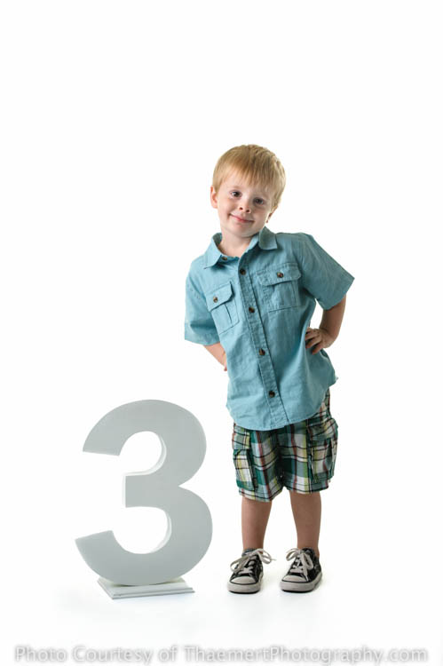 Toddler turns THREE, portrait by St Peters Children's Photographer