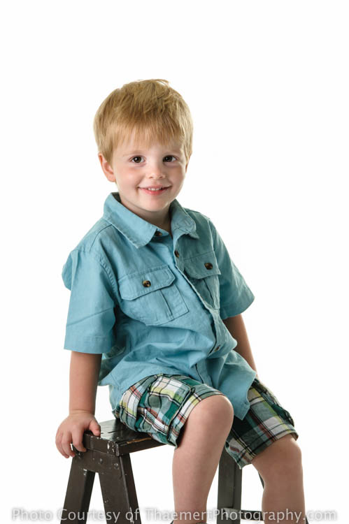 Toddler boy in the studio by St Peters Children's Photographer