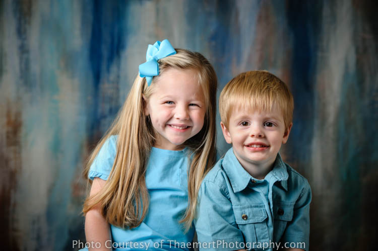 St Peters Childrens Photographer Studio Portraits of siblings
