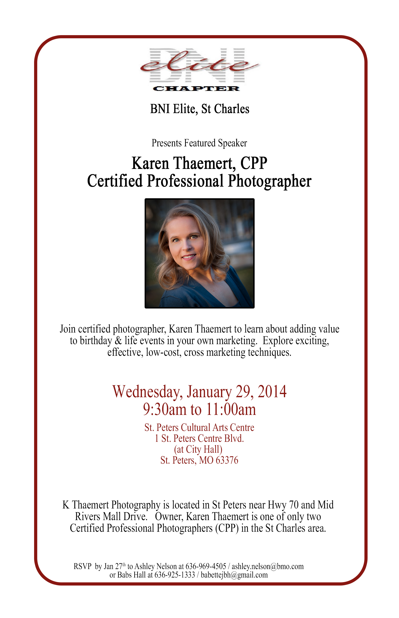 St Peters Photographer featured speaker