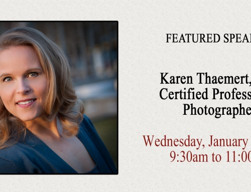 Featured Speaker – Karen Thaemert, St Peters Photographer