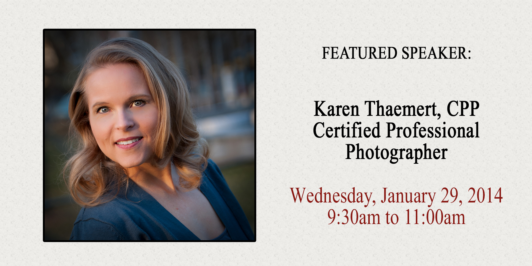St Peters Professional Photographer gives marketing talk