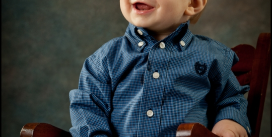 St Charles Baby Photographer 9 Month formal portrait