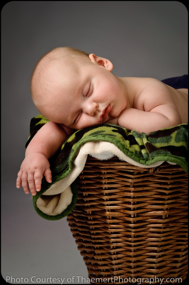 St Charles Baby Photographer Sleeping 3 Month Baby Boy