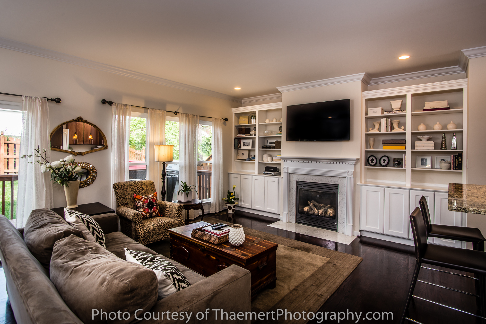 Beautiful Real Estate Photography in St Louis Living Room