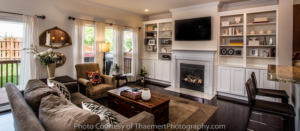 Dogtown Living Room St Louis Real Estate Photographer