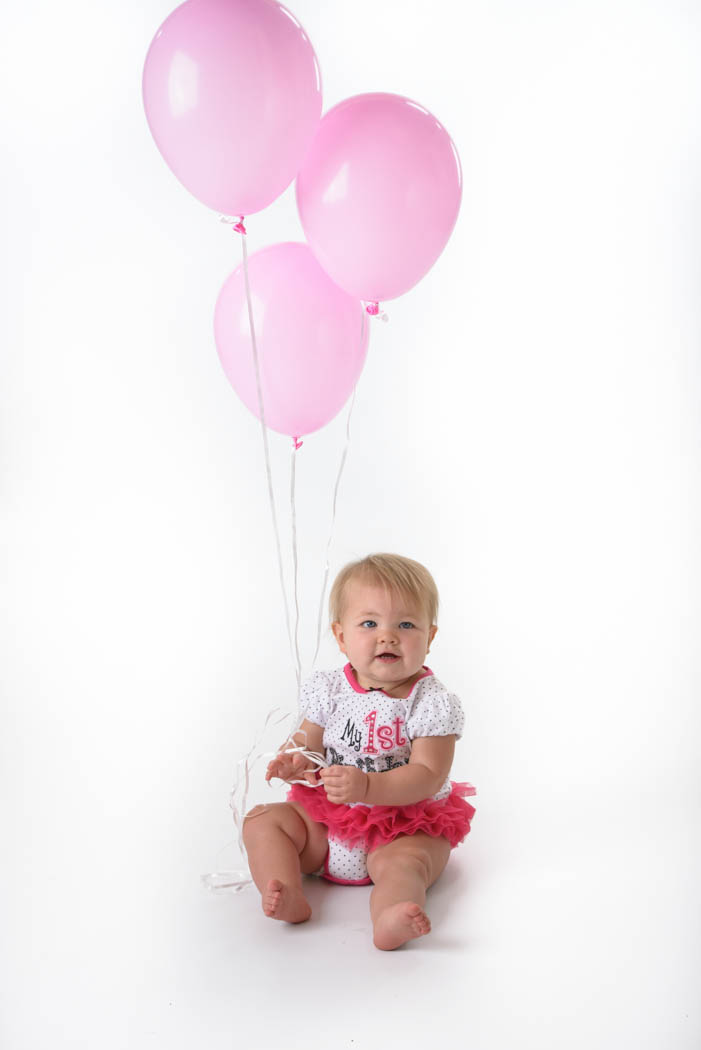 St Charles Birthday Photographer Baby Girl