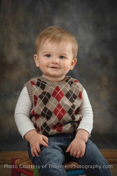 Baby Boy St Charles Birthday Photographer portrait