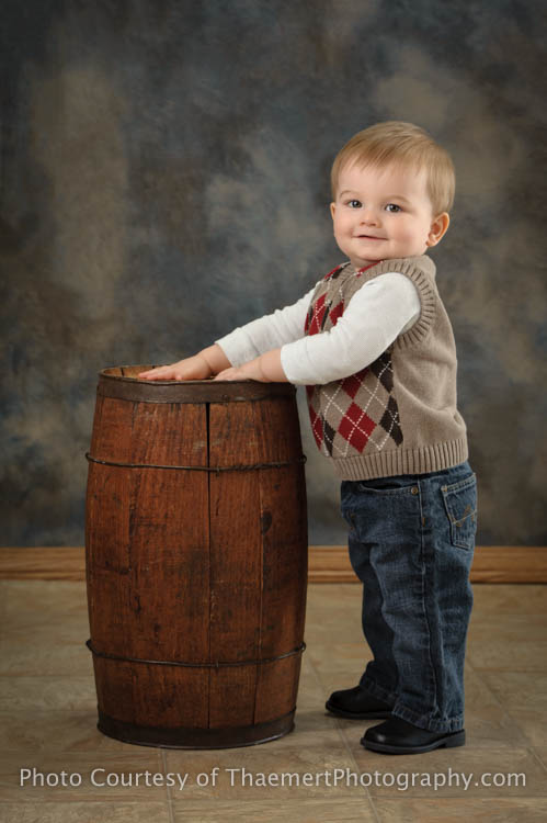 St Charles Baby Photographer 1st Birthday Boy Formal Portrait