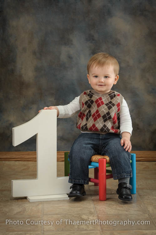 St Charles Baby Photographer Studio Portraits 1st birthday