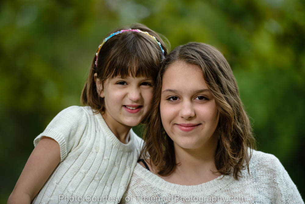 Sister Love photo St Charles Family Photographer
