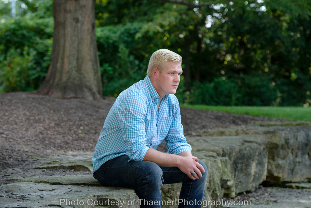 Senior Guy St Charles High School Senior Photographer at the park