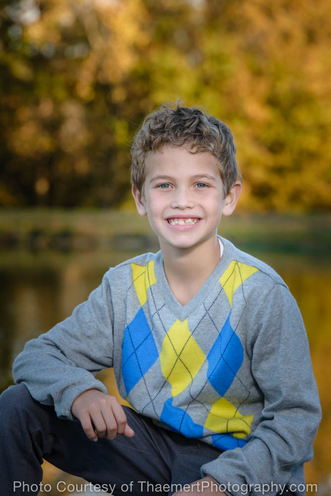 Boy photo in the park by St Charles Family Photographer