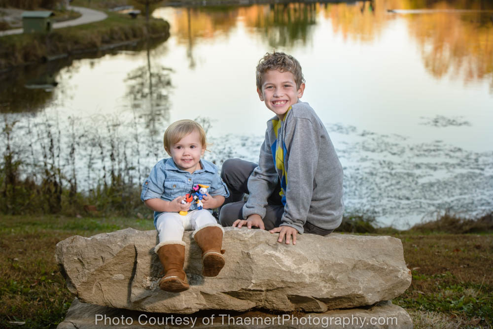 Siblings photo by St Charles Family Photographer