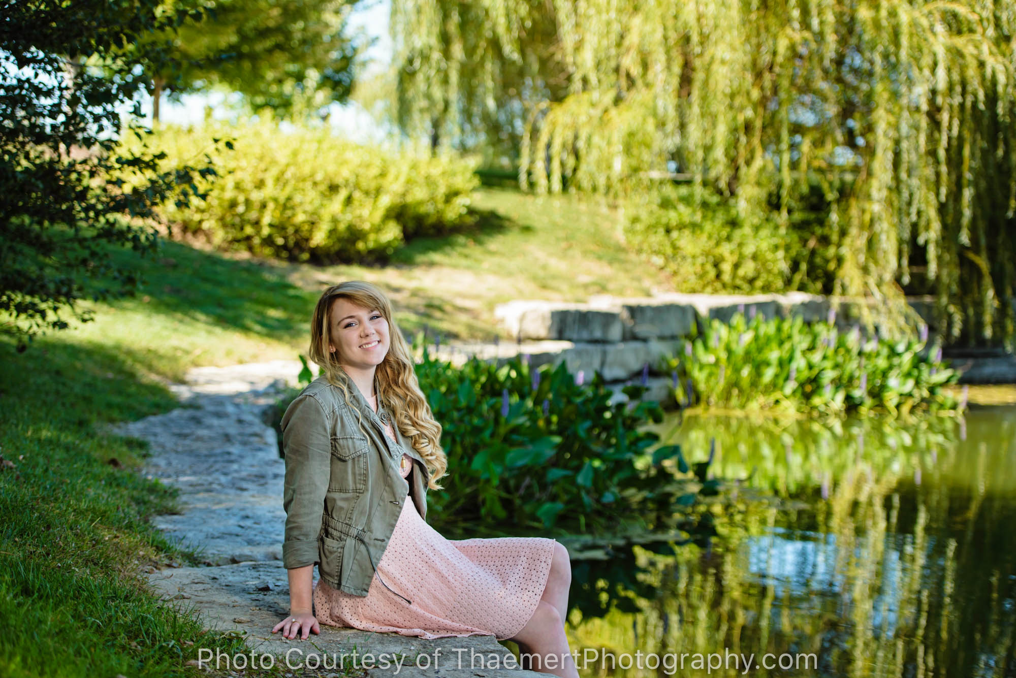New Town St Charles High School Senior Photographer, Willows and lake