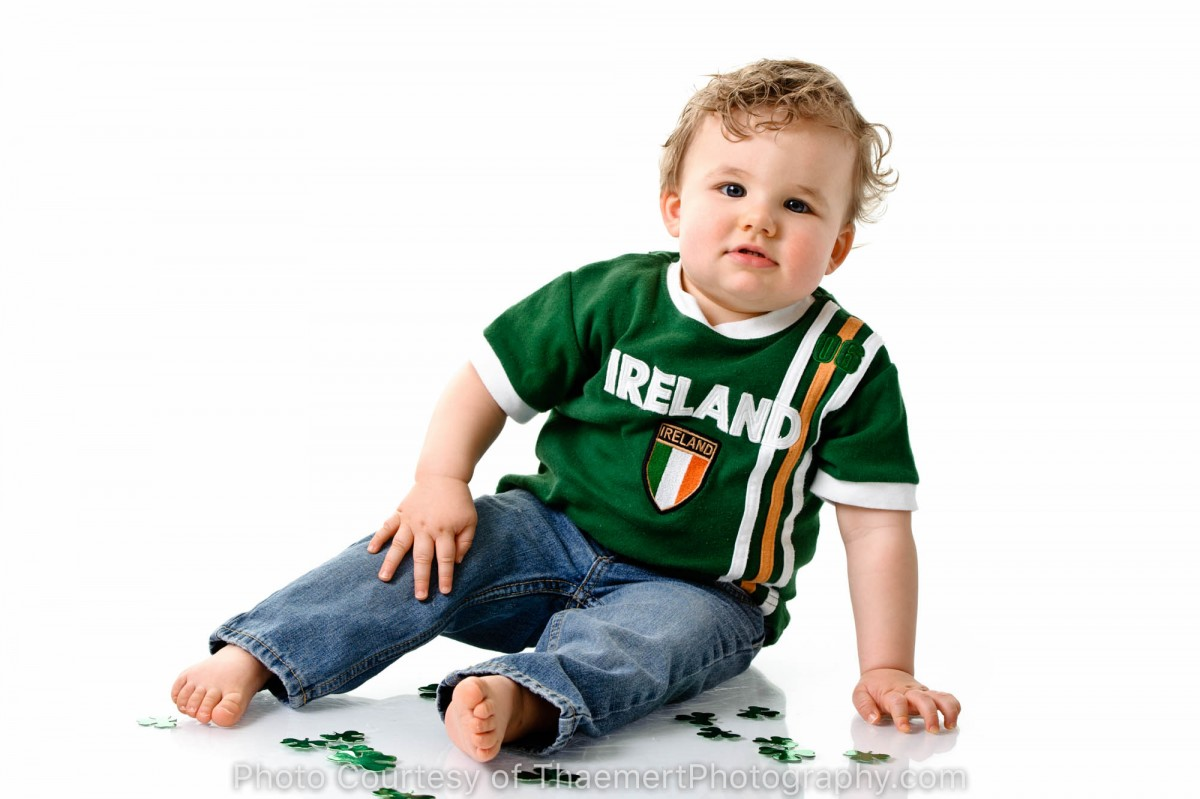 Go Irish St Charles Baby Photographer
